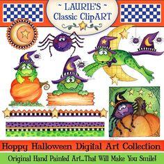 Web Design, Design Blog, Halloween Clipart, Halloween Crafts, Digital Stamps, Digital Art, Imprimibles Halloween, Halloween Candy Bar, Handmade Cards