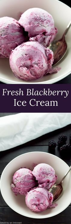With just six simple ingredients, this recipe for No-Churn Fresh Blackberry Ice Cream is one of the easiest summer recipes around. via @introvertbaker