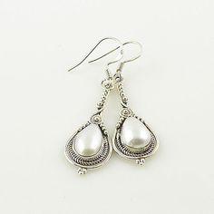 Pearl Drop Sterling Silver Earrings – Keja Designs Jewelry