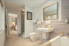 Interior Designed Master Bedroom and Ensuite Bathroom. Mink, pale pink grey…