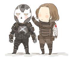 animated Crossbones and Winter Soldier fanart by xxxxxx6x