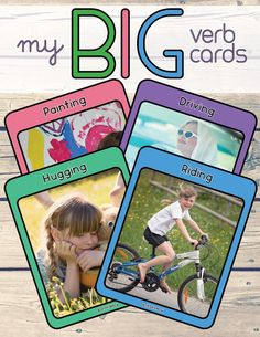 Verb/action cards for Special Education/Speech Therapy