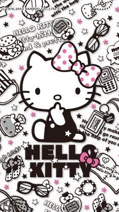 One more thing to add to my collection. Hello Kitty Iphone Wallpaper, Hello Kitty Backgrounds, Sanrio Wallpaper, Cute Wallpaper For Phone, Hello Kitty Wallpaper, Hello Kitty Art, Hello Kitty Themes, Hello Kitty My Melody, Hello Kitty Birthday