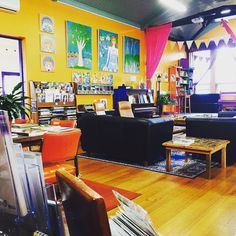 This is how we're looking today! If you're visiting Port Fairy you could pay us a visit - would love to meet you!   #bookshop #dogfriendly #childfriendly #art #exhibition #warm #inviting #colourful #pianola #chess #tictactoe #traintracks #fishtank #books #secondhandbooks #newbooks #vintagebooks #giftcards #artistbooks #bookart #biblioart #couches #blarneybooksandart #portfairy #killarney #koroit #warrnambool #hamilton #penshurst #portland by blarneybooksandart