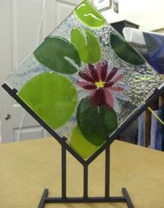 lovely fused glass...you can make this at the FRAMERY!