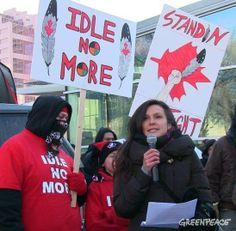 Melina Laboucan Massimo at Idle No More rally
