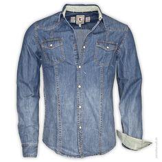 LTB Hemd 1/1 Man RAYMOND Angesagtes Jeanshemd im Vintage-Look mit verschließbaren Brusttaschen.      Druckk...