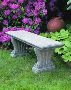 Amazoncom Garden Bench Cast Stone Granite Rock Bench 3 Piece