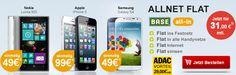BASE ALL-in mit Nokia Lumia 925, iPhone 5 oder Galaxy S4 für 31,- EUR im Monat