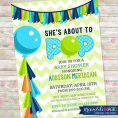 About to Pop Ready to Pop Baby Shower Invite by DreamlikeMagic