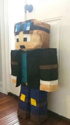 If you play, then you have a favorite skin. This is the DanTDM the diamond minecart Skindoll. He is 30 inches tall (almost 3 feet) and 8 inches wide.