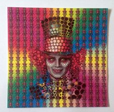 Psychedelic Mad hatter colored Blotter Art Print by MypsyArt