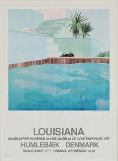 David Hockney Exhibition Poster 1976 – hellethygesen.com Louisiana Museum, Louisiana Art, Exhibition Poster, Museum Exhibition, David Hockney Artwork, David Hockney Pool, Motifs Textiles, Museum Poster, Pop Art Movement