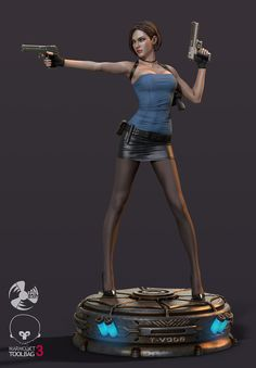 Valentine Resident Evil, Resident Evil Girl, Anime Figures, Action Figures, Character Concept, Character Art, Jill Valentine, 3d Prints, Action Poses