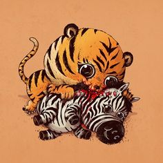 Tiger & Zebra An idea I've had for a while that I finally got around to…