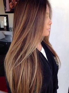 61 Ideas Hair Caramel Balayage Straight For 2019 - Tigereye Hair - ombre haare Balayage Straight Hair, Balayage Hair Caramel, Caramel Hair, Balayage Brunette, Hair Color Balayage, Brunette Hair, Hair Highlights, Caramel Highlights, Cabelo Ombre Hair