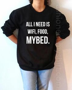 All I Need is Wifi Food MyBed - Unisex Sweatshirt for Women - shpfy