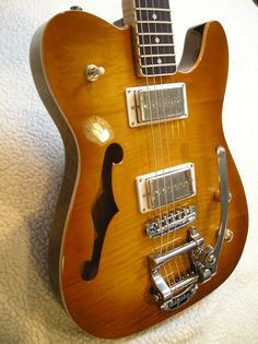 Brand New, Custom, Semi-Hollow Tele, with Bigsby and a Ton of Features and…