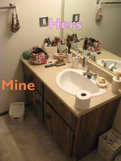 His and Hers bathroom storage