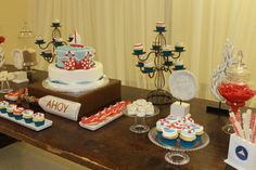 "Photo 1 of 40: Nautical Baby Boy / Welcome Party ""Nautical theme welcome party "" 