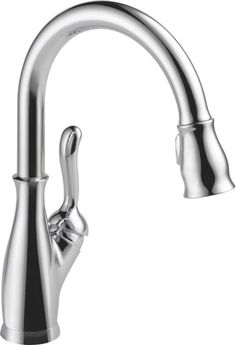 Delta 9178-DST Leland Pull-Down Spray Kitchen Faucet with Diamond Seal Technolog Chrome Faucet Kitchen Single Handle