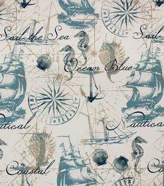 Solarium Outdoor Fabric-Amid Ships Indigo