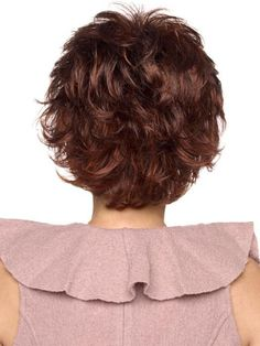 New Style Human Remy Hair Unique Elegant Short Wavy Natural Wig Curly Hair With Bangs, Short Curly Hair, Hairstyles With Bangs, Short Hair Cuts, Curly Hair Styles, Short Dark Hair, Short Hair With Layers, Short Wavy, Short Lace Front Wigs