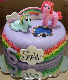 My lil pony cake Flour de Lis custom cakes and treats-Oklahoma www.facebook.com/flourdelisandrea