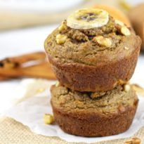 Grain- free Sweet Potato Banana Nut Muffins - The Real Food Dietitians