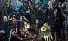 Campanha Dolce&Gabbana pelo Tumblr Pokemon&Fashion