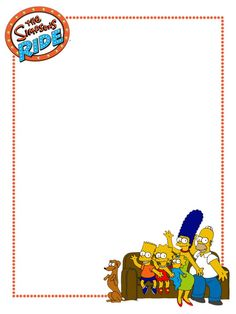 "The Simpsons Ride - couch - Universal - Project Life Journal Card - Scrapbooking ~~~~~~~~~ Size: 3x4"" @ 300 dpi. This card is **Personal use only - NOT for sale/resale** Logos/clipart belong to Universal. ***Click through to photobucket for more versions of this card with  without ride logo***"