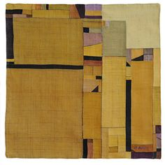 Bok Hee Lee - yellow wrapping cloth (#pojagi) 2009 - linen