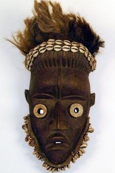 SOLD Dan Tribe African Mask with Cowry Shells 15