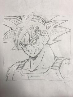 Bardock Father of Goku Broken Drawings, Anime Drawings Sketches, Anime Sketch, Goku Drawing, Ball Drawing, Dragon Ball Z, Animes Wallpapers, Anime Love, Chrono Trigger