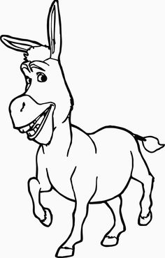 donkey from shrek coloring pages