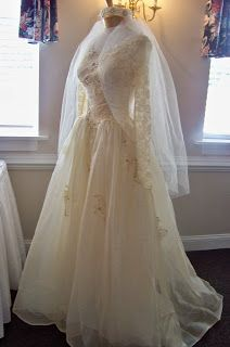Wedding dress displayed ... 50th wedding anniversary party