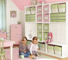 wall storage units- THIS would go well in my planned quilting/crafting room.