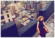 Super Fly – Lily Cole gets high on the top of towering city buildings for the October cover shoot of Harper's Bazaar Turkey. Lensed by Koray Birand, Lily sports some of fall's best shapes selected by fashion editor Isabel Dupre. Topped off with tight red curls by Deycke Heidron and flawless makeup by Hung Vanngo, Lily wows in the high gloss images. / Production by Productionising