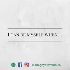 I can be myself whenIm surrounded by loved once and confident about what Im doing. When can you be yourself?  --Join Me-- Develop a deeper awareness of whats truly important to you and whats simply fluff. . I'll be sharing a statement for next 21 days on Facebook and Instagram . There are two ways I'm doing the reflective journaling. 1. Complete the statement as quickly as possible without putting a lot of thought. (Comment to win) 2. Spend 10-15 minutes thinking deeper about the statement…