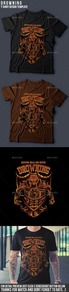 Drowning TShirt Design — Vector EPS #nice #t-shirt • Available here → https://graphicriver.net/item/drowning-tshirt-design/14481002?ref=pxcr