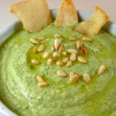 Basil Hummus | In the kitchen with Kath