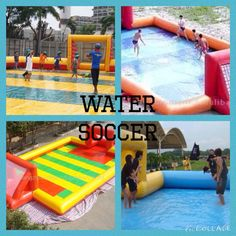 Water Soccer is just played in a blow up field and goals you can use a blow up soccer ball or a real soccer ball. Don't slip<<<<<can i just go play this rn Real Soccer, Girls Soccer, Football Soccer, Soccer Stuff, Soccer Birthday, Soccer Party, Soccer Ball, Soccer Memes, Soccer Quotes