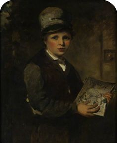 The Athenaeum - Boy Selling 'Punch' (James Sant, R.A. - )