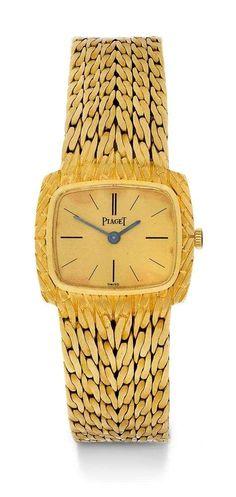 PIAGET, ELEGANTE DAMENUHR, 70er Jahre. Gelbgold 750. Referenz 9561 E 42, attraktives , verschraubtes | juwelier-haeger.de