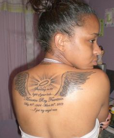 Angel Wings Memorial Tattoo #popular #repins