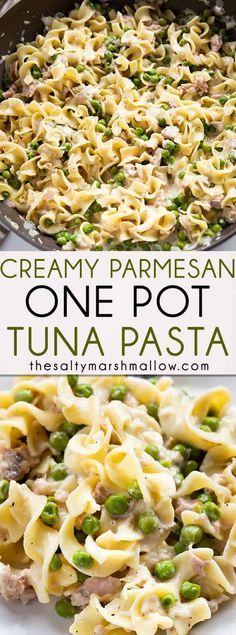 Pasta Sauce Recipes, Noodle Recipes, Recipe Pasta, Creamy Tuna Pasta, Pasta With Tuna, Chicken Pasta, Meals With Tuna, Tuna Meals, Cream Pasta