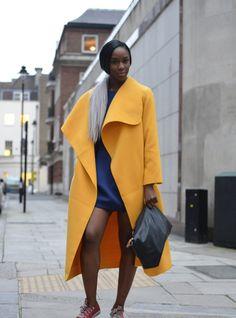 totally rad yellow topper. London. #LMFW