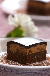 Brownie Caramel Mousse w/Ganache