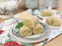 Green Tea Roll. Try using potato starch instead of wheat starch.