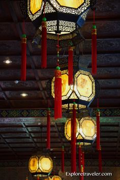 Lanterns are lucky symbols in the Chinese New Year festival in Taiwan http://exploretraveler.com/